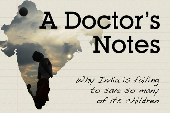 "Series art for ""A Doctor's Notes"" - a blog series posted on GlobalPost's Pulse blog."